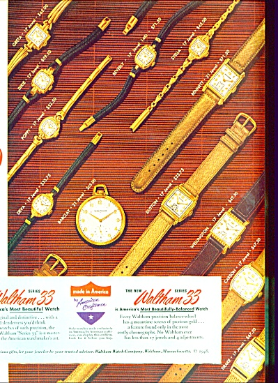 Waltham 33 watches ad (Image1)