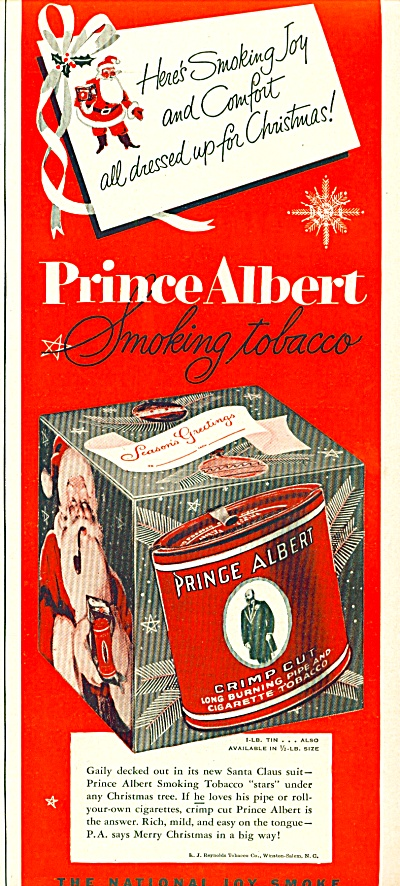 Prince Albert pipe and cigarette tobacco ad (Image1)