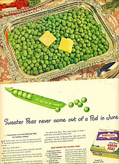 Bird's eye sweet peas ad (Image1)