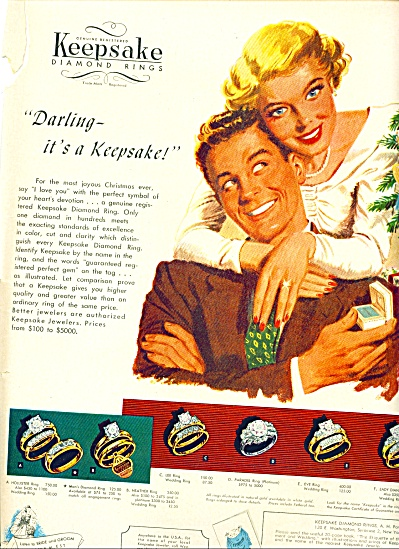 1948 Keepsake diamong rings AD CUTE ART (Image1)