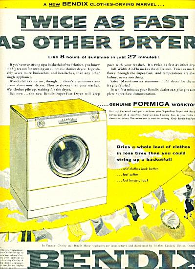 Bendix super fast dryer ad 1955 (Image1)