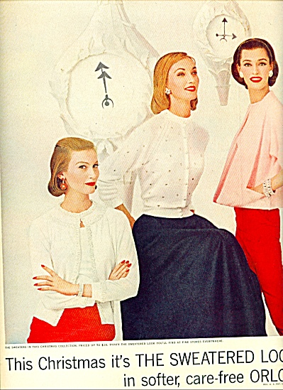 1955 Dupon Orlon Sweaters 2pg AD Article MODE (Image1)