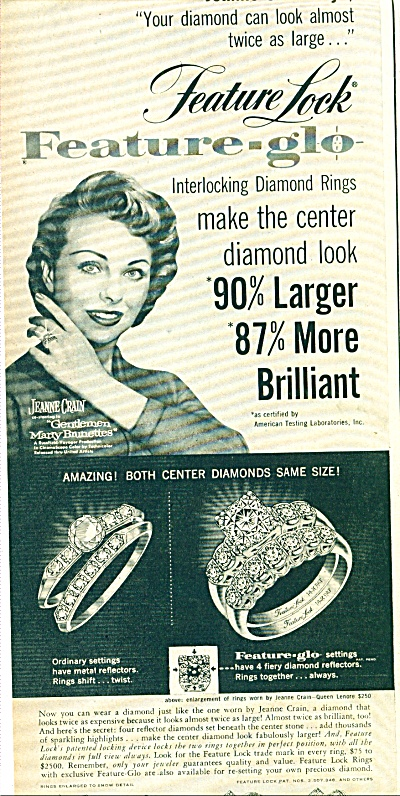 Feature ring company ad - JEANNE CRAIN (Image1)