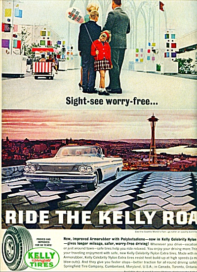 1958 Kelly Springfield Tires Ad Sightseeing