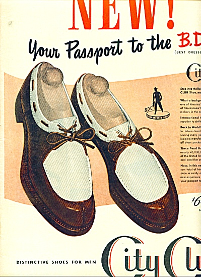 1946 City Club Shoe for men AD COOL SHOES (Image1)