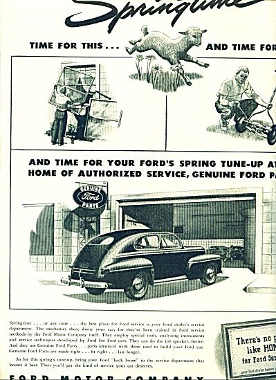 1946 Ford Motor AD SPRING TUNE UP Promo (Image1)