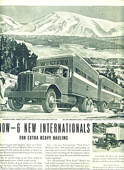 1946 International TRUCK AD Great Art (Image1)