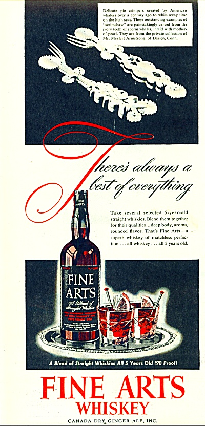 1946 Fine Arts Whiskey  AD Canada Dry (Image1)