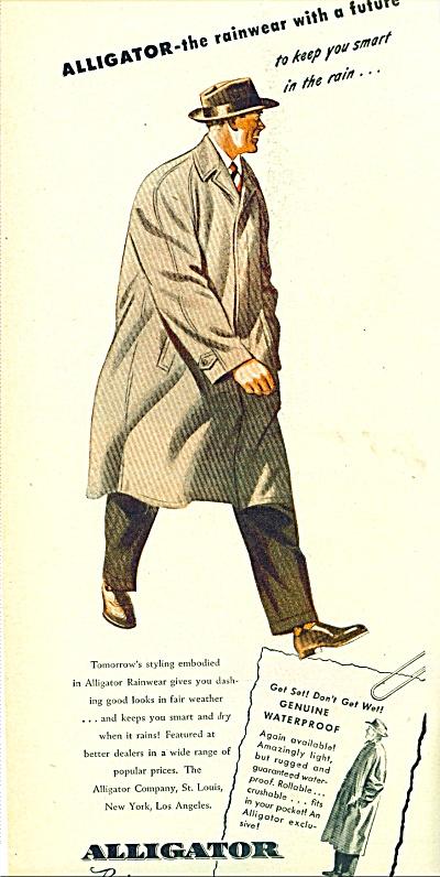 1946 Alligator Men's Fashion rainwear AD (Image1)