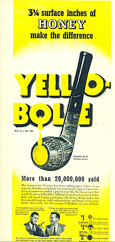 Yello-Bole pipes ad 1946 (Image1)