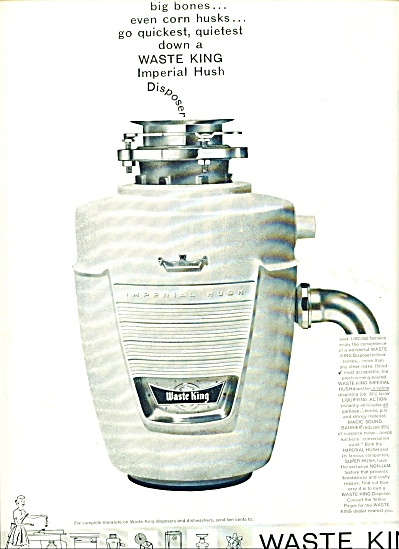 Waste King garbage disposal ad 1959 (Image1)