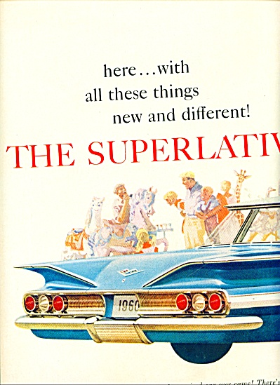 1959 CHEVY Chevrolet Superlative CAR AD IMPAL (Image1)