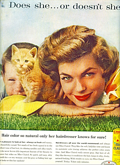 1959 Miss Clairol AD DOES SHE ... Lady - Boy (Image1)