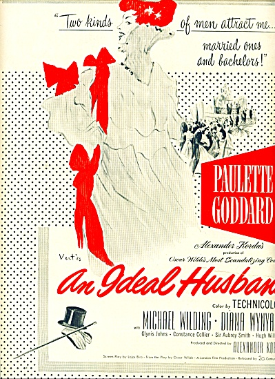 1948 Movie AD Ideal Husband  VERTES Goddard (Image1)