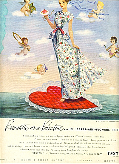 1948 Textron LINGEREE MENSWEAR AD SIEBEL ART (Image1)