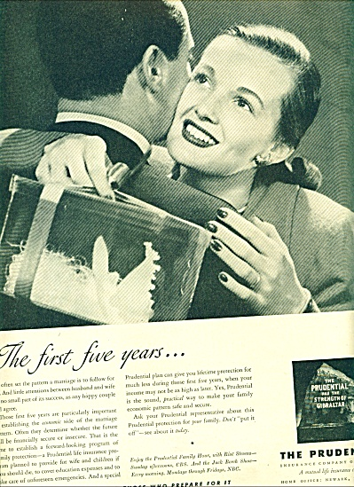 1948 Prudential Insurance AD Couple - First 5 (Image1)