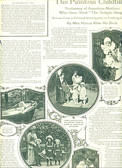 1914 The Painless childbirth Expose  2pg (Image1)