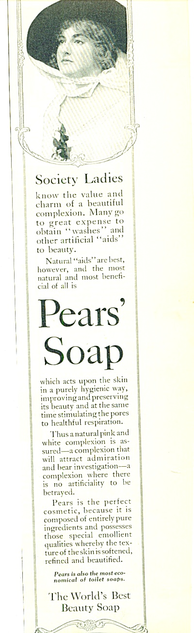 1914 PEARS SOAP AD World's Best Beauty (Image1)