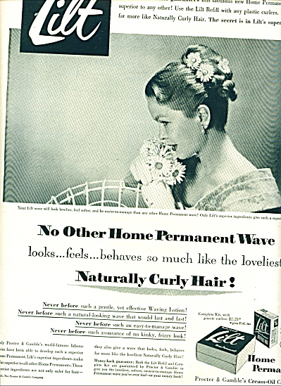 1951 Lilt  Home Permanent AD BEAUTIFUL WOMAN (Image1)