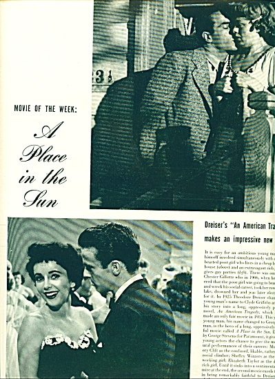 1951 Place in the Sun  ELIZABETH TAYLOR Story (Image1)