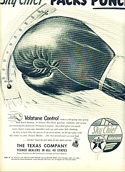 1952 Sky chief Texaco GAS AD Boxing Glove (Image1)