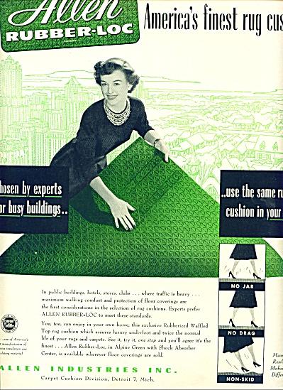 1951 Allen Rubber LOC Rug Fashion AD (Image1)