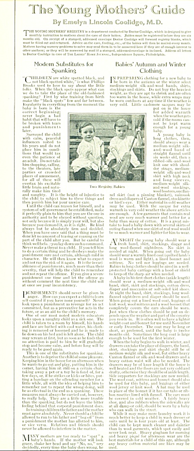 1914 The Young Mother's Guide  story COOLIDGE (Image1)