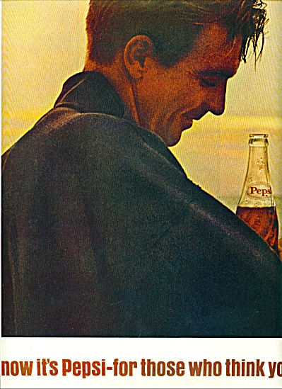 1964  Pepsi Cola ad THINK YOUNG MAN (Image1)