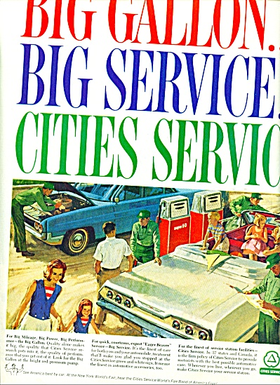 Cities Service gas stations ad 1964 (Image1)