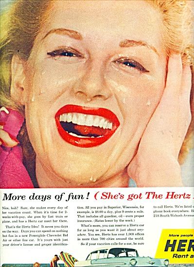 1956 Hertz rent a car AD SHE'S GOT THE HERTZ (Image1)