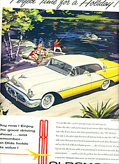 1956 Oldsmobile 88 Holiday Sedan Car Ad
