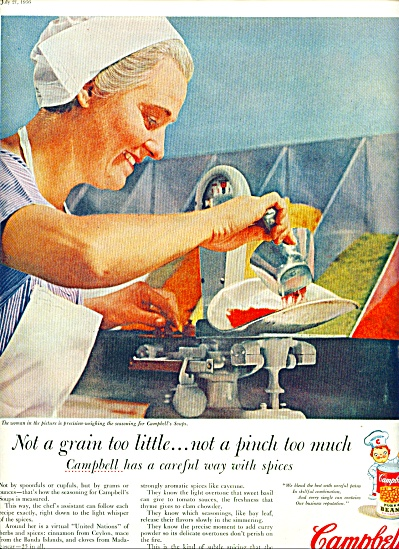 1956 Campbell's Soup WORKER Woman AD (Image1)