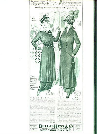 1914 Bellas Hess NY Womens Fashions ARTWORK (Image1)