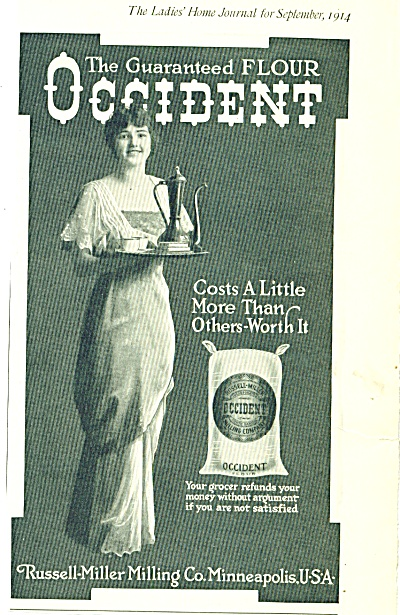1914 Russell-miller Occident Flour Ad
