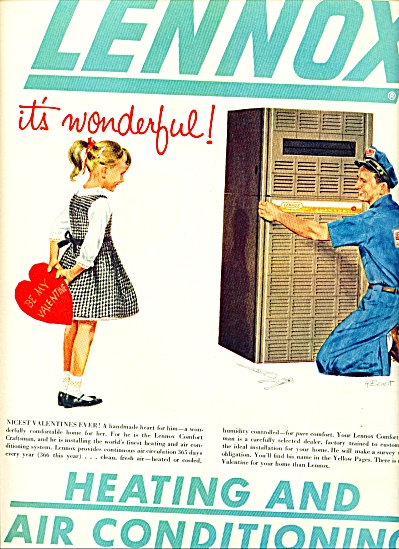 1960 Lennox Heating  Cooling AD A. BENOIT ART (Image1)