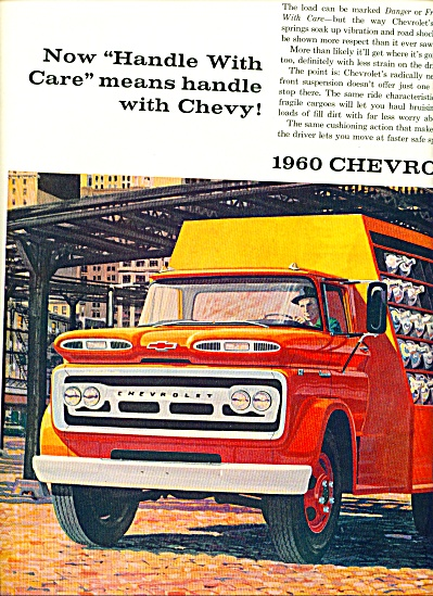 1960 Chevrolet Chevy Truck Ad 2pg Art Sip