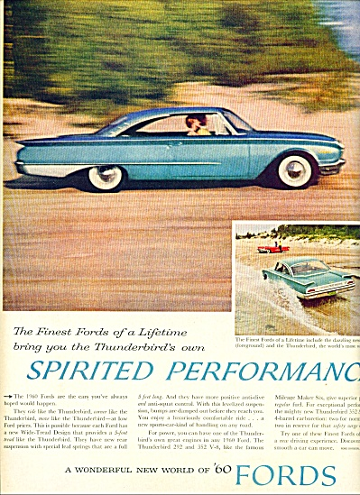 1960 Ford Thunderbird CAR AD Promo (Image1)