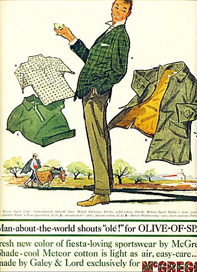 1960 McGregor mens clothes ad COOL ART SIP (Image1)