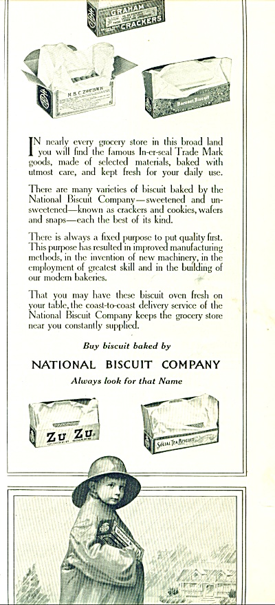 1914 National Biscuit AD LITTLE BOY Raincoat (Image1)