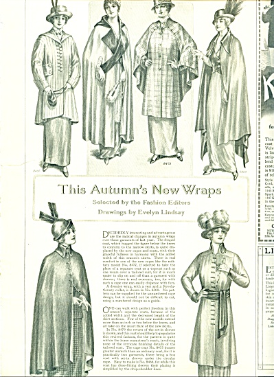 1914 FASHION Pattern PAGES Womens LINDSAY ART (Image1)