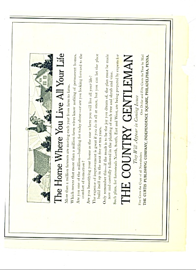 1914 The Country Gentleman AD Pastoral Scene (Image1)