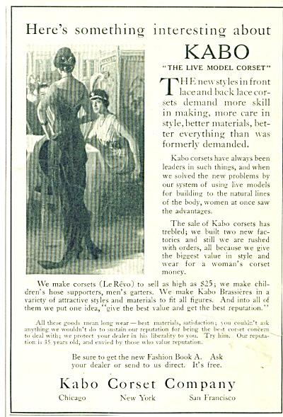 Kabo Corset company ad 1914 (Image1)