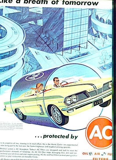 1962 AC FILTER Ad Pontiac Monte Carlo ART (Image1)