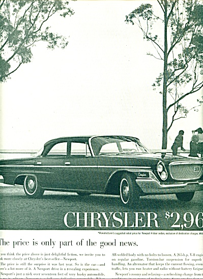 Chrysler Newport automobile ad 1962 (Image1)