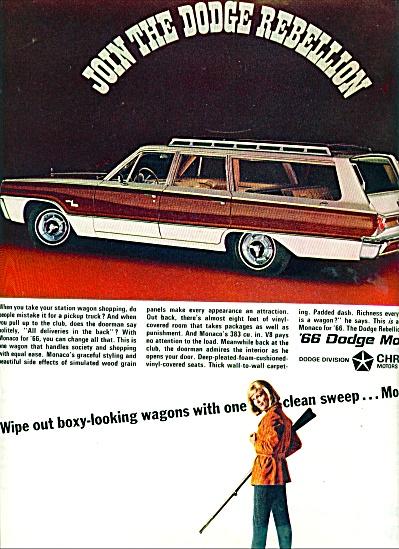 Dodge Monaco 1966 auto ad (Image1)