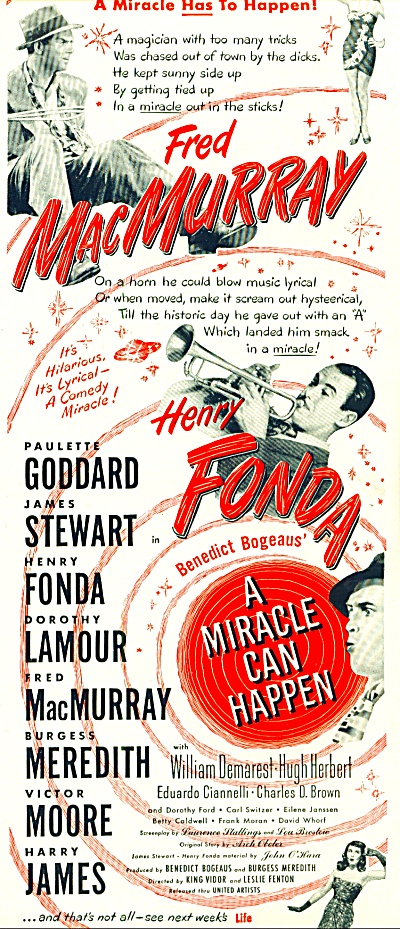 Movie:  A Miracle can Happen - MACMURRAY-FOND (Image1)