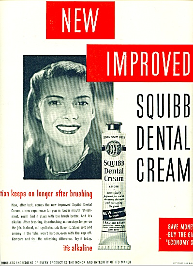 Squibb Dental Cream ad 1946 (Image1)