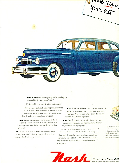 1948 Nash automobile CAR PROMO  ad (Image1)