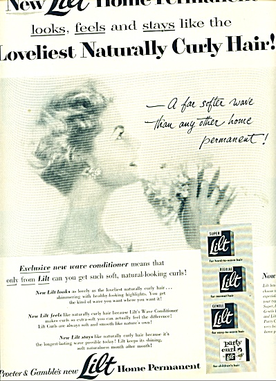 1954 Lilt  Home Permanent AD BEAUTIFUL WOMAN (Image1)