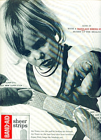Band aid sheer strips ad 1963 (Image1)